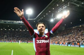 WEST BROMWICH, ENGLAND - MAY 14: Jack Grealish of Aston Villa celebrates victory in the penalty shoot out after the Sky Bet Championship Play-off semi final second leg match between West Bromwich Albion and Aston Villa at The Hawthorns on May 14, 2019 in West Bromwich, England. (Photo by Alex Livesey/Getty Images)