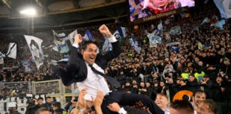 ROME, ITALY - MAY 15: SS Lazio head coach Simone Inzaghi celebrates victory after he TIM Cup Final match between Atalanta BC and SS Lazio at Stadio Olimpico on May 15, 2019 in Rome, Italy. (Photo by Marco Rosi/Getty Images)