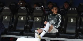 MADRID, SPAIN - MAY 19: Gareth Bale of Real Madrid looks on from the substitute bench before the La Liga match between Real Madrid CF and Real Betis Balompie at Estadio Santiago Bernabeu on May 19, 2019 in Madrid, Spain. (Photo by Denis Doyle/Getty Images)