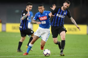 Brozovic and Vecino against Napoli