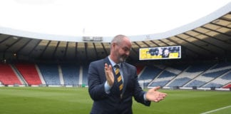 GLASGOW, SCOTLAND - MAY 21: Steve Clarke is unveiled as the new Scotland National Team head coach at Hampden Park on May 21, 2019 in Glasgow, Scotland. (Photo by Ian MacNicol/Getty Images)