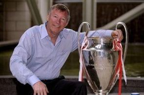Alex Ferguson with the European Cup
