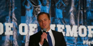 SYDNEY, AUSTRALIA - JUNE 02: Mark Bosnich speaks during a function at the international friendly match between Sydney FC and Chelsea FC at ANZ Stadium on June 2, 2015 in Sydney, Australia. (Photo by Renee McKay/Getty Images for Sydney FC)