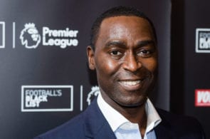 LONDON, ENGLAND - MARCH 28: Andy Cole attends the Football Black List 2016 at Village Underground on March 28, 2017 in London, England. (Photo by Jeff Spicer/Getty Images for Premier League)