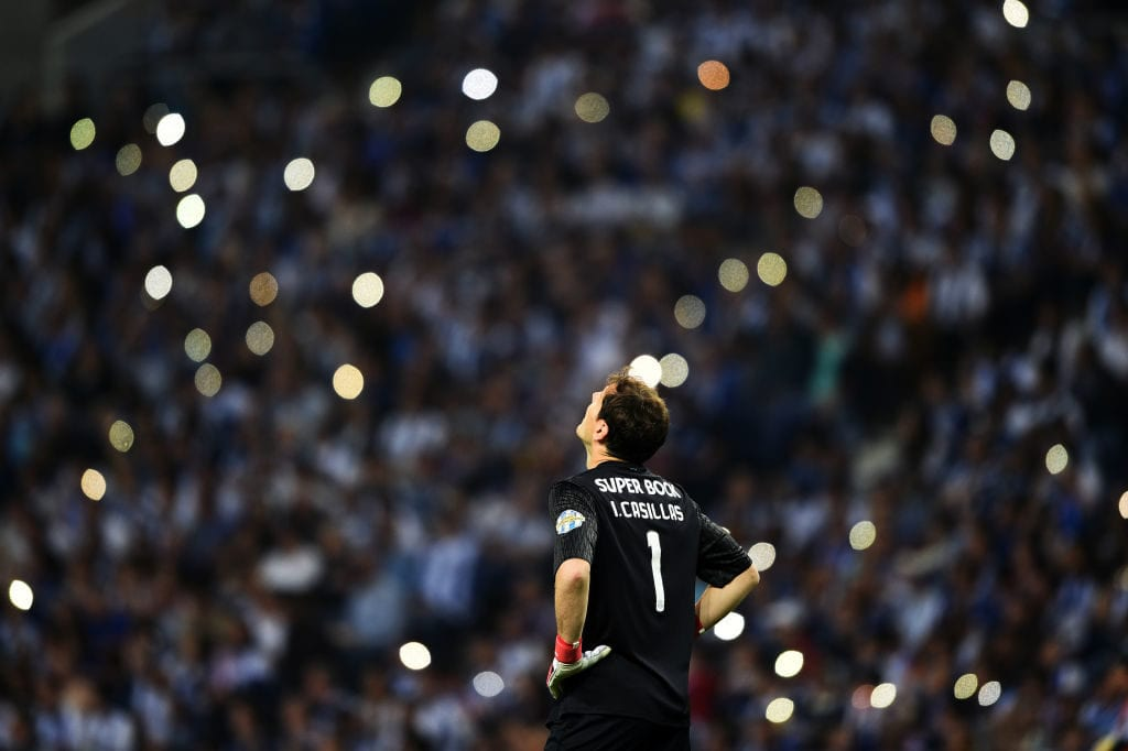 PORTO, PORTUGAL - MAY 06: Iker Casillas of FC Porto in action during the Primeira Liga match between FC Porto and Feirense at Estadio do Dragao on May 6, 2018 in Porto, Portugal. (Photo by Octavio Passos/Getty Images)
