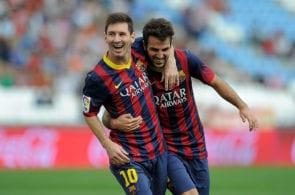 Fabregas, Messi