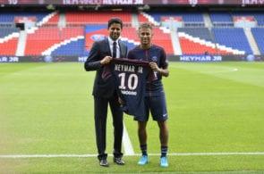 Neymar broke transfer records moving to PSG