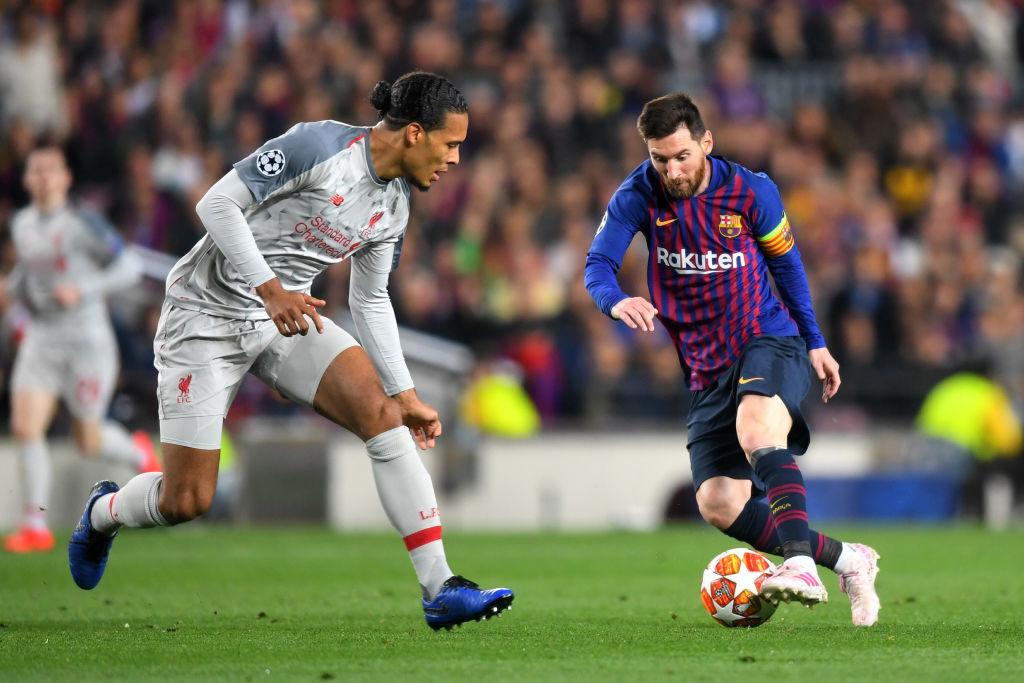 Lionel Messi, Virgil van Dijk, Barcelona, Liverpool, Champions League