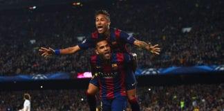 Dani Alves, Neymar, Barcelona