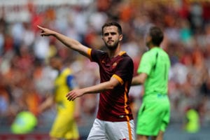 Pjanic while playing for Roma