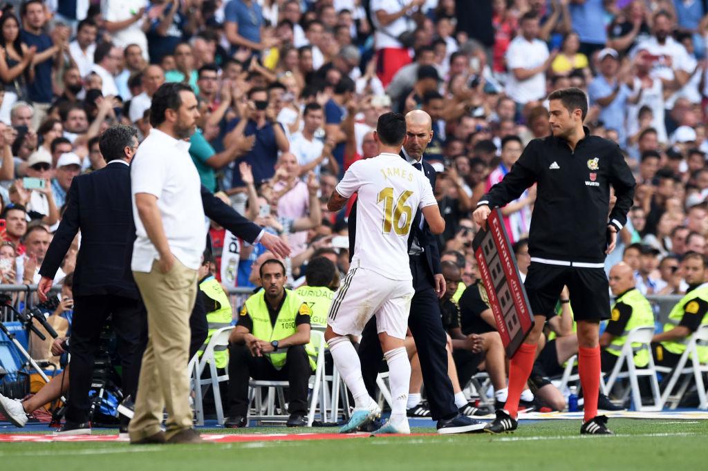 James Rodriguez, Zinedine Zidane, Real Madrid