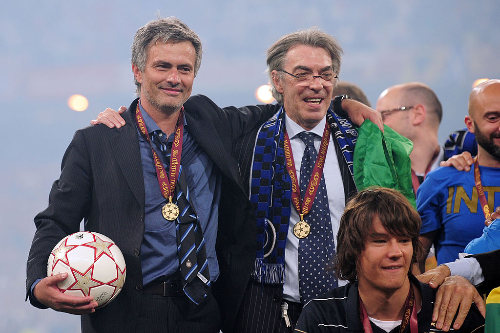 mourinho, moratti, inter milan