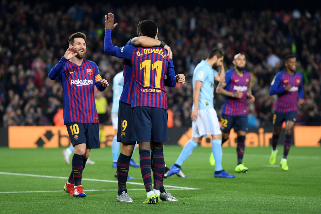 Ousmane Dembele, Lionel Messi, Barcelona, La Liga