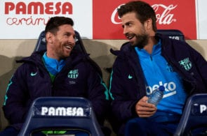 Gerard Pique, Lionel Messi, Barcelona