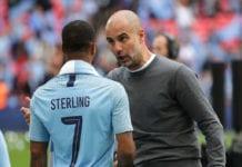 Pep Guardiola, Raheem Sterling, Manchester City