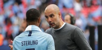 Pep Guardiola, Raheem Sterling, Manchester City