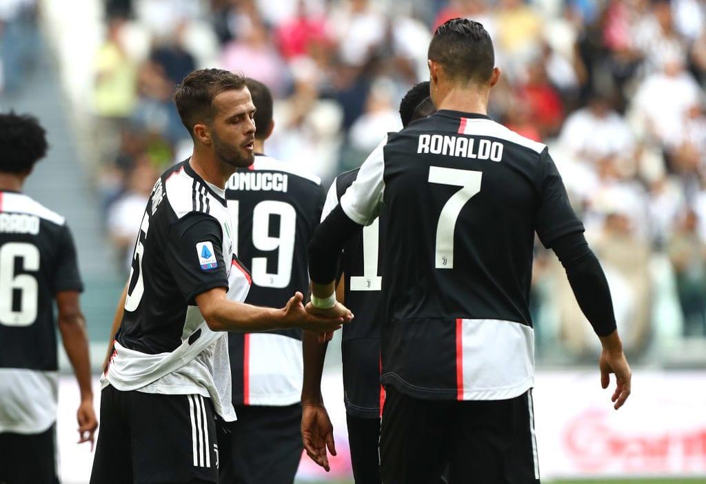 Miralem Pjanic, Cristiano Ronaldo, Juventus