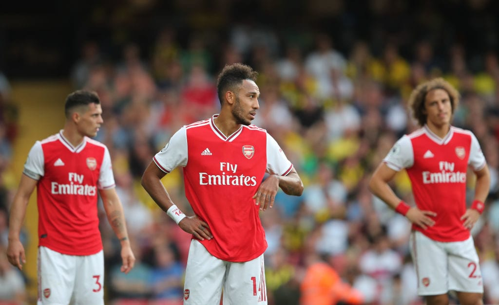 Pierre-Emerick Aubameyang, David Luiz, Arsenal, Watford