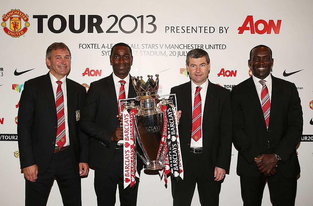 Andy Cole, Bryan Robson, Denis Irwin, Dwight Yorke, Premier League, Manchester United