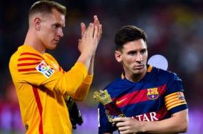 Marc-Andre ter Stegen, Lionel Messi, Barcelona