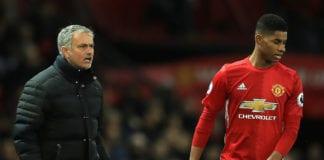 Marcus Rashford, Jose Mourinho, Manchester United