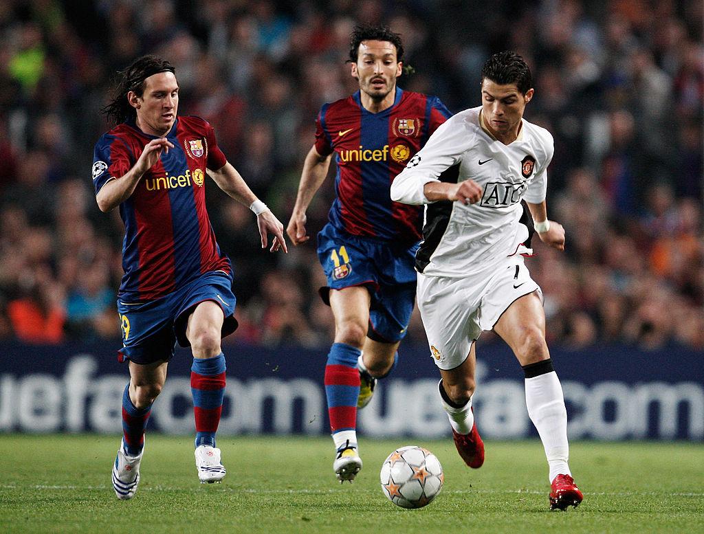 Cristiano Ronaldo, Lionel Messi, Manchester United, Barcelona
