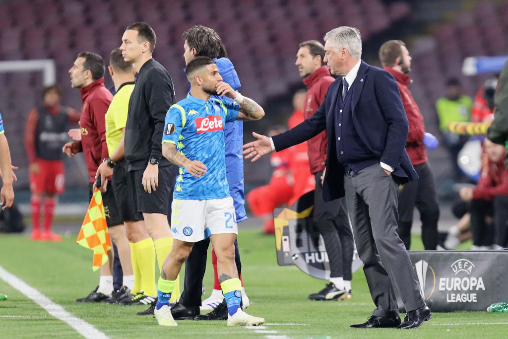 Insigne and Ancelotti, Napoli