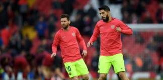 Luis Suarez, Lionel Messi, Barcelona