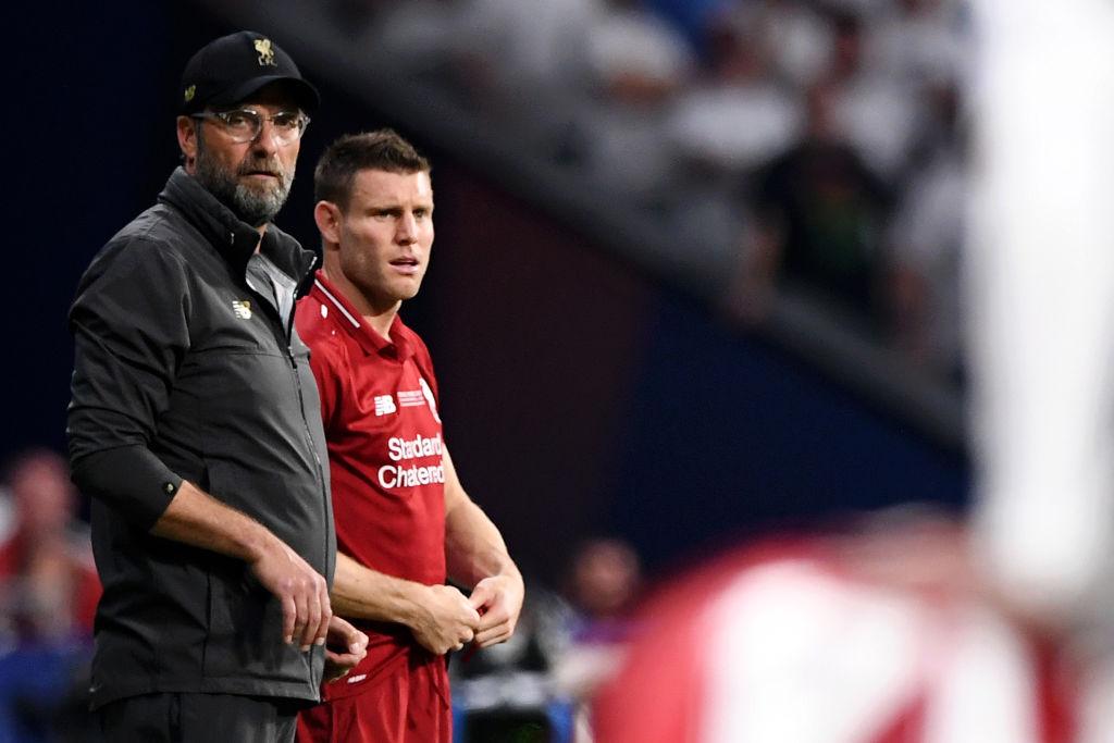 Milner and Klopp, Liverpool