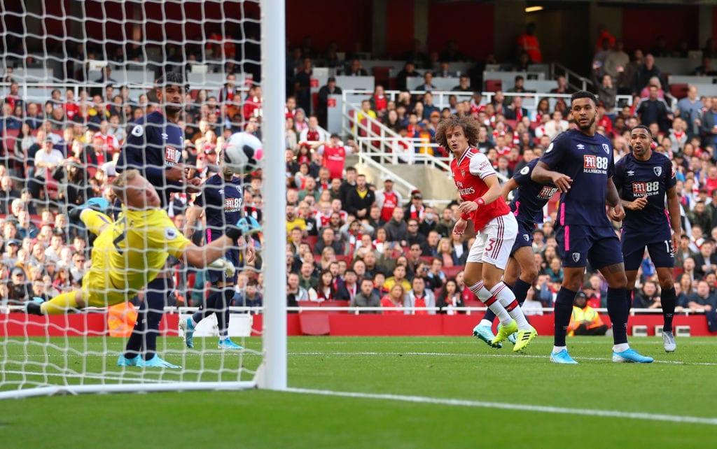 David Luiz, Arsenal, Bournemouth, Premier League