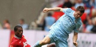Patrice Evra, Manchester United, Manchester City, James Milner, Premier League