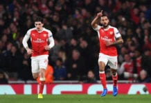 Theo Walcott, Hector Bellerin, Per Mertesacker, Arsenal, Premier League