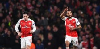 Theo Walcott, Hector Bellerin, Per Mertesacker, Arsenal, Premier League