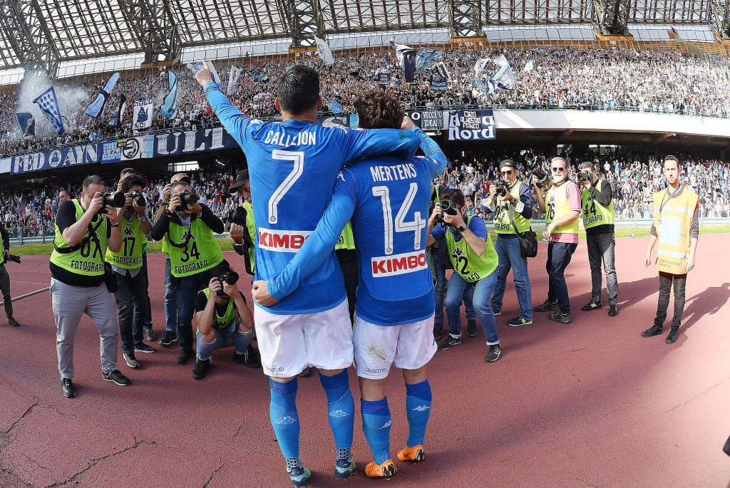 Dries Mertens and Jose Callejon