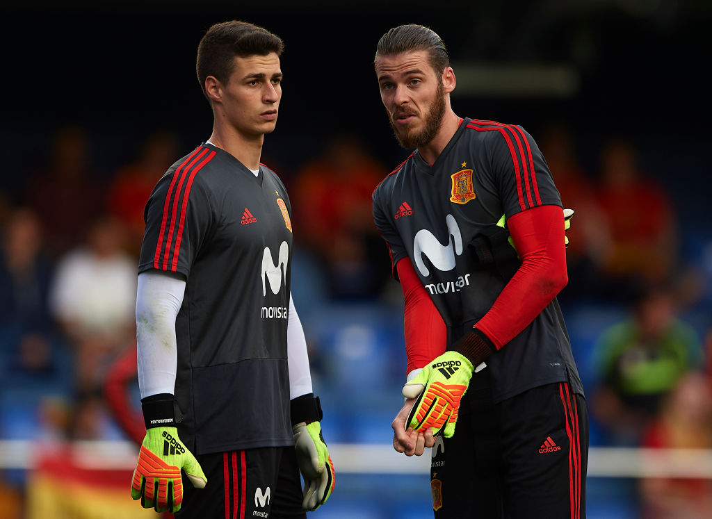 kepa arrizabalaga, david de gea, spain