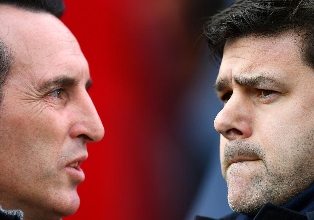 Arsenal Unai Emery and Tottenham Mauricio Pochettino