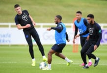 joe gomez, rahee sterling, england