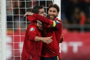 Alvaro Morata Euro 2020 Spain Sergio Ramos