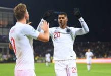 Rashford scores for England