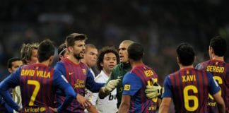 Barcelona, Real Madrid, bust-up, football