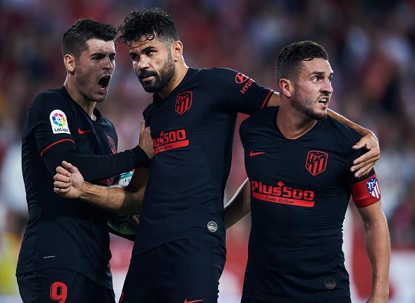 Diego Costa and Alvaro Morata struggle upfront for Atletico Madrid