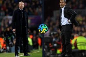 We compare Zidane and Valverde's El Clasico records