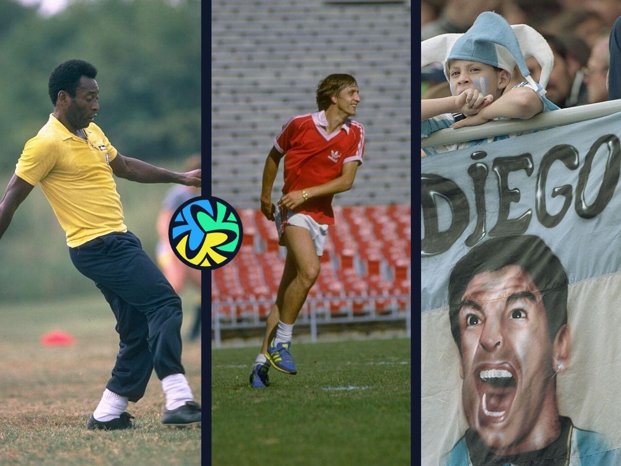 Pele, Johan Cruyff, Diego Maradona