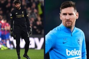 Alisson explains how facing Messi helped him in becoming a better goalkeeper