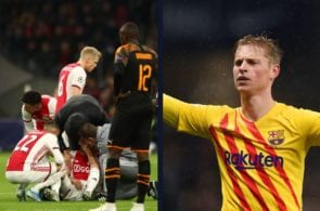 De Jong's heartbreaking reaction to Ajax dropping out of the Champions League