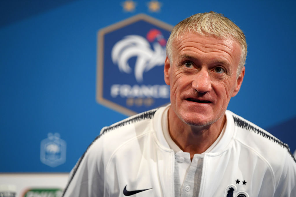 Didier Deschamps, France Training And Press Conference