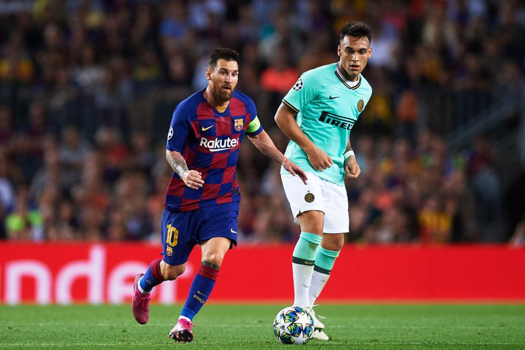 Lionel Messi, Lautaro Martinez, Barcelona vs Inter