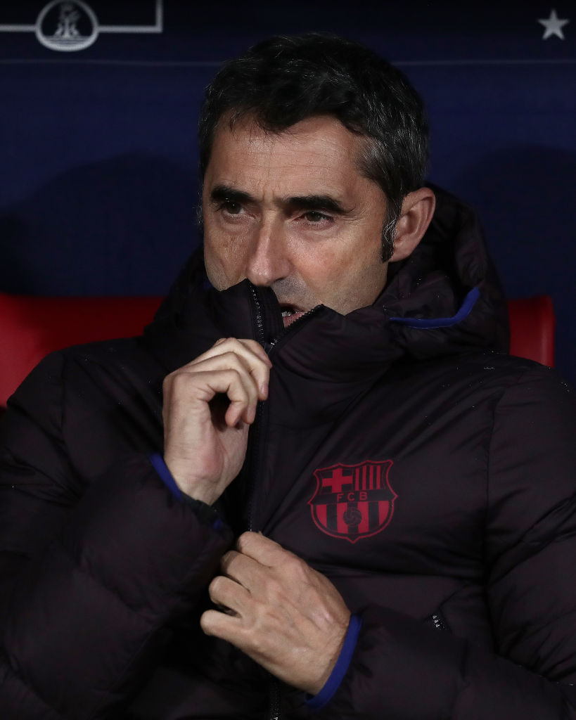 Ernesto Valverder in Barcelona dugout
