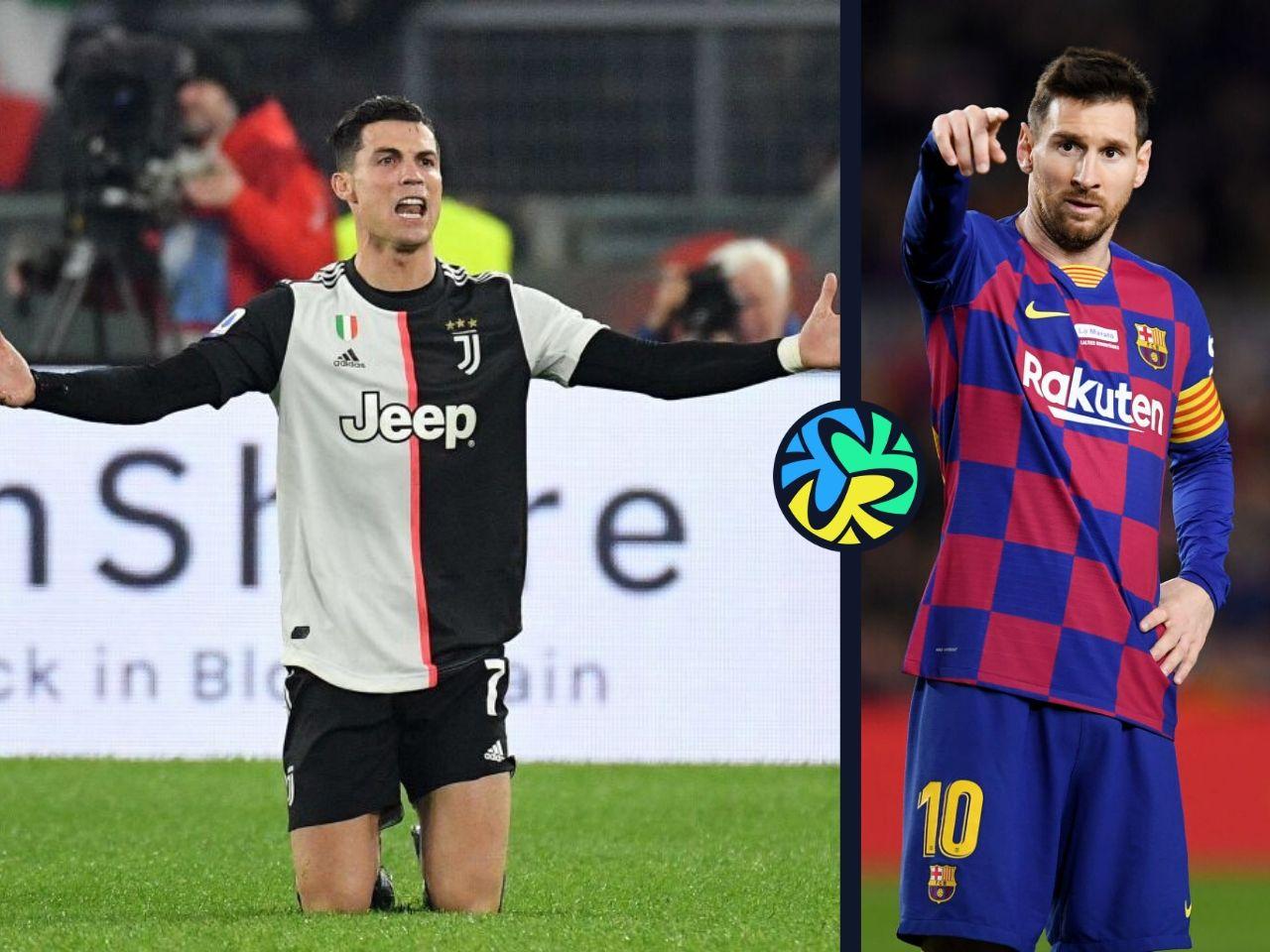 Cristiano Ronaldo Lionel Messi Juventus Serie A