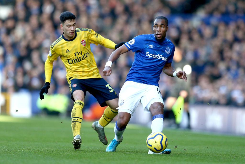 Gabriel Martinelli, Djibril Sidibe, Everton vs Arsenal, Premier League